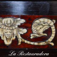 Restauración de un escritorio español.